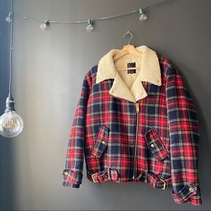Joyrich Plaid Sherpa Wool Jacket